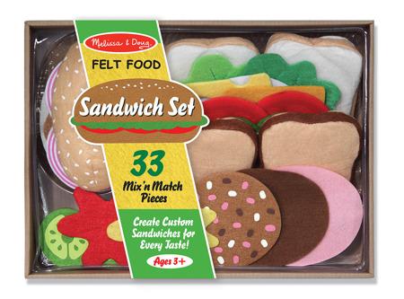 Filcowa Kanapka Jedzenie  Melissa and Doug 13954