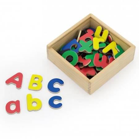 Drewniane Magnetyczne literki Magnes Viga Toys