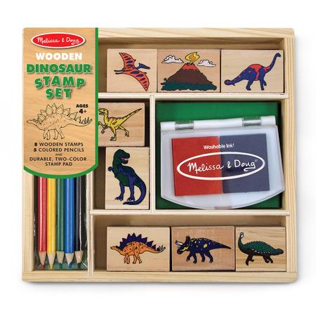 Drewniane Pieczątki Stempelki Dinozaury Melissa and Doug 11633