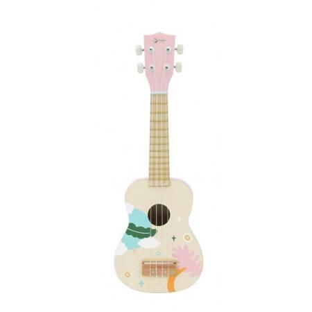 Drewniane Ukulele Gitara  Różowa Classic World