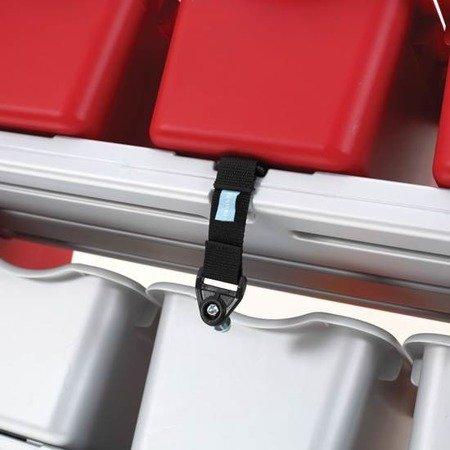 Step2  Czerwony Regalik Organizer z 11 pojemnikami