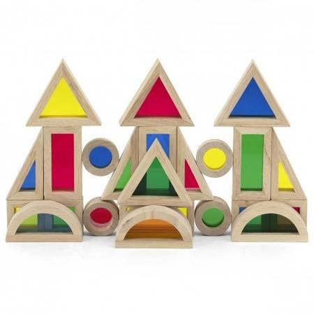 Zestaw Drewniane Kolorowe Klocki  Viga Toys