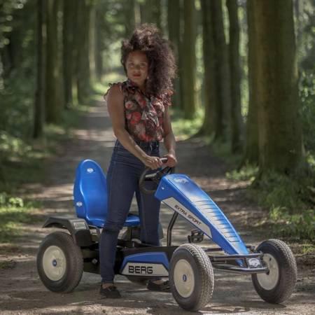 BERG Gokart na Pedały XL B.Super Blue BFR Pompowane koła od 5 lat do 100 kg