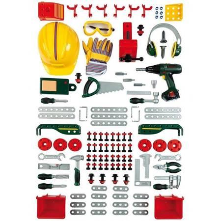 Bosch warsztat z narzędziami i wkrętarką 150 elementów światło dźwięk Klein