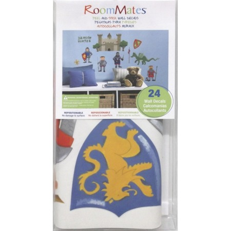 Dekoracje ścienne samoprzylepne Rycerze i Smoki Naklejki RoomMates RMK1267SCS