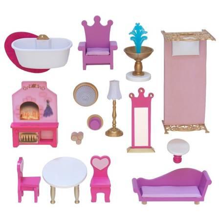 Domek dla lalek - Różany Zaczarowany Zamek Księżniczki Kidkraft Światło i dźwięk