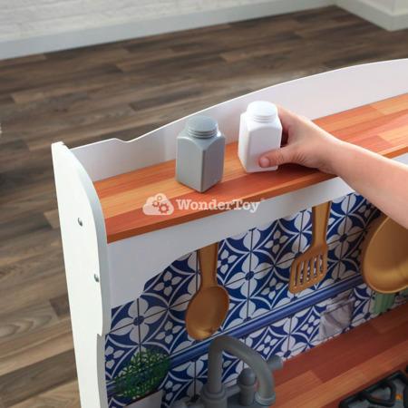 Drewniana Kuchnia dla dzieci Mosaica z magnetycznym frontem
