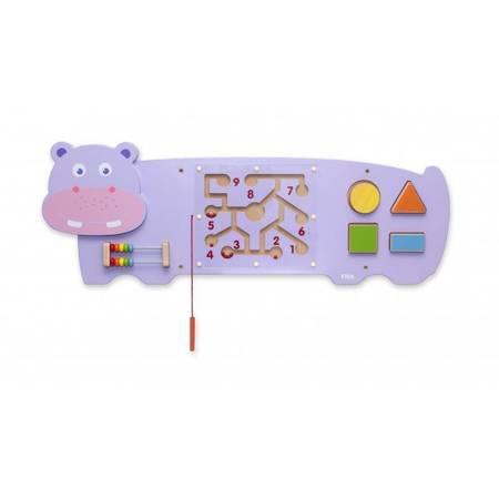 Drewniana Sensoryczna Tablica manipulacyjna Hipopotam  Viga Toys
