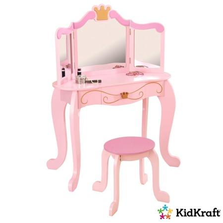 Drewniana Toaletka Księżniczki z siedzeniem  Kidkraft 76123