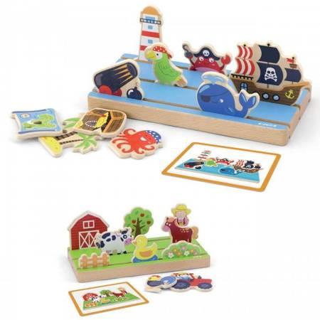 Drewniana Układanka Edukacyjna Nauka Odległości 2w1 Viga Toys
