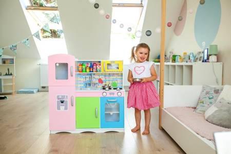 Drewniana kuchnia dla dzieci Neon Cook Deluxe + Akcesoria