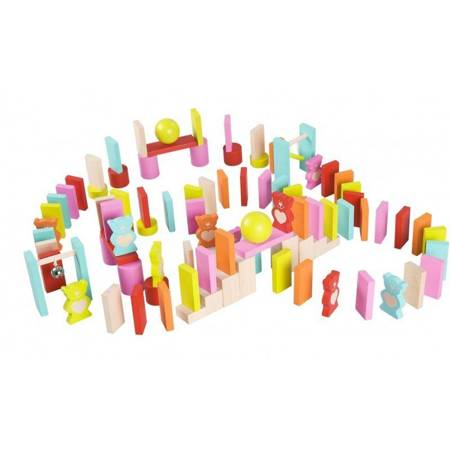 Drewniane Kolorowe Domino Misie Classic World