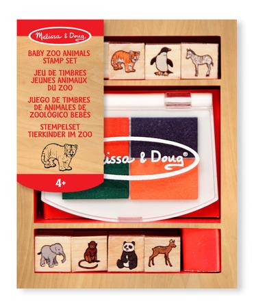 Drewniane Pieczątki Baby Zoo  Melissa and Doug 11638