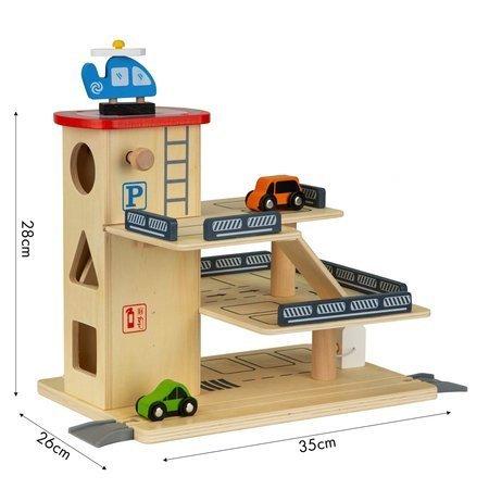 Drewniany Garaż Piętrowy Parking