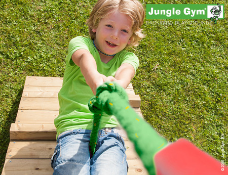 Drewniany Plac zabaw Jungle Gym - Bridge Fort Club
