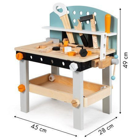 Drewniany Warsztat z Narzędziami + 32 Akcesoria