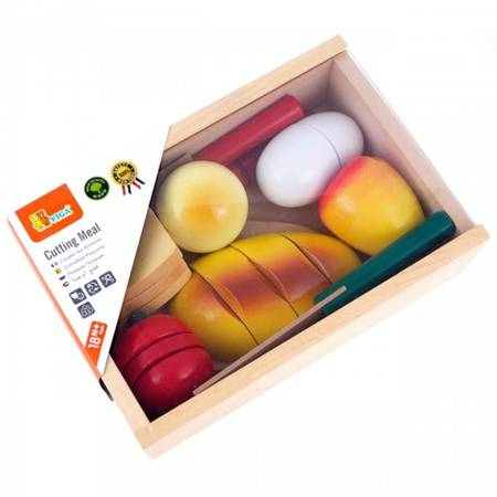 Drewniany Zestaw Śniadaniowy do krojenia Viga Toys