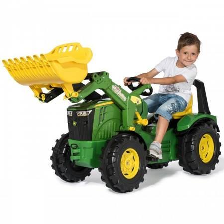 John Deere Traktor na Pedały X-Trac Premium Łyżka Ciche Koła Rolly Toys