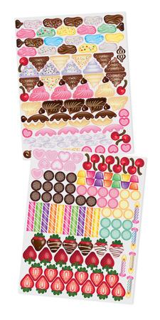Klasyczne  Naklejki Ciasteczka Słodycze  Melissa dla Doug 14239
