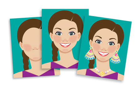 Klasyczne Naklejki Dla Dziewczynek Twarze Melissa dla Doug 14195