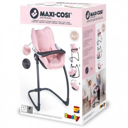 Krzesełko do karmienia dla lalki Maxi Cosy Quinny 3w1  Nosidełko Bujak Smoby