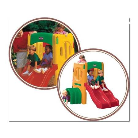 Little Tikes Plac Zabaw Małpi Gaj z podwójną zjeżdżalnią