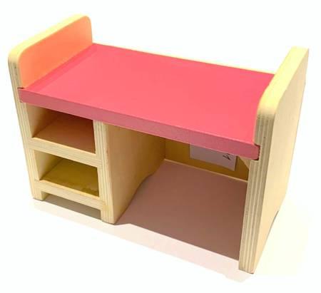 Mebelek do domku dla lalek Różowe biurko dla Barbie