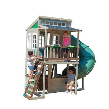 Mega Plac Zabaw Western Cozy Escape - Domek Zjeżdżalnia Rurowa Turbo Ślizg