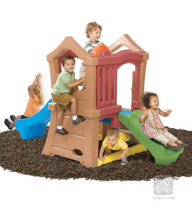 Mini Plac Zabaw z 2 zjeżdżalniami Step 2 Play Up Double Slide Climber 800000