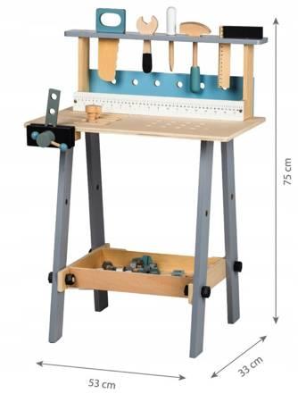 Nowoczesny Drewniany Warsztat z narzędziami+ 32 Akcesoria