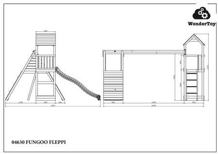 Plac zabaw Fleppi Teak Crest  FunGoo ®