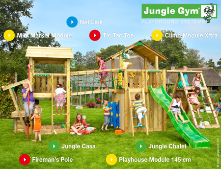 Plac zabaw Jungle Gym Fun City - Wesołe Miasteczko