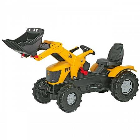 Rolly Toys rollyFarmTrac Traktor na pedały JCB z Łyżką Ciche Koła