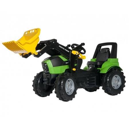 RollyToys rollyFarmtrac Premium Deutz-Fahr Agrotron Traktor na pedały z łyżką  3-8 Lat
