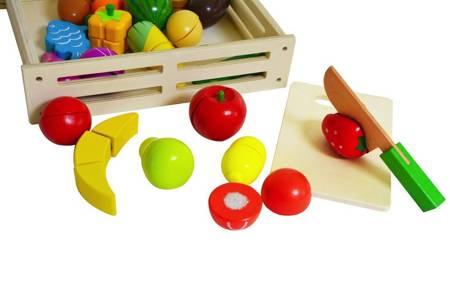Skrzynka Drewniane Warzywa i Owoce do krojenia