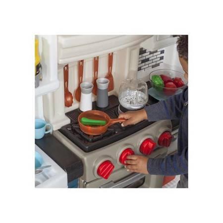 Step2 Duża Kuchnia dla dzieci Grand Luxe  Swiatło + Akcesoria 78 szt