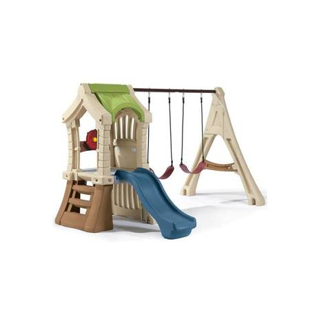 Step2  Plac Zabaw Wieża z Huśtawkami Zjeżdżalnia