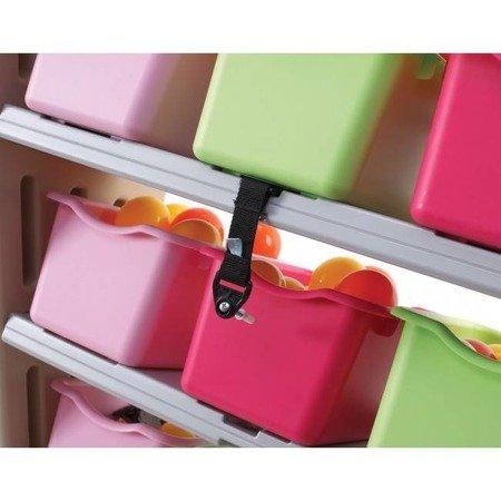 Step2  Różowy Regalik Organizer z 11 pojemnikami