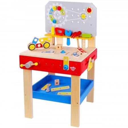 TOOKY TOY Drewniany Warsztat Mechanika dla dzieci + NARZĘDZIA