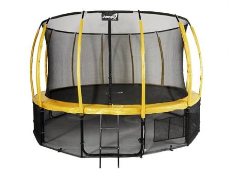 Trampolina Ogrodowa 435cm/14ft żółta Maxy Comfort Plus Z Wewnętrzną siatką