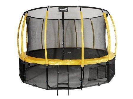 Trampolina Ogrodowa 487cm/16ft żółta Maxy Comfort Plus Z Wewnętrzną siatką