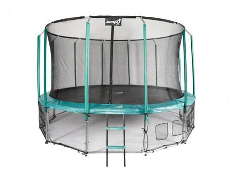 Trampolina Ogrodowa Z Wewnętrzną siatką Jumpi Maxy Comfort 487cm/16ft zielona