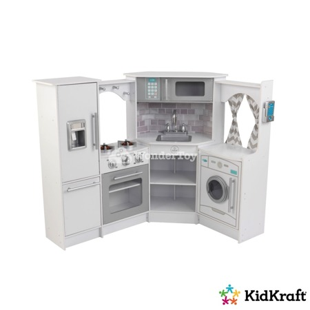 Ultimate Narożna Biała Kuchnia KidKraft  Światło i dźwięk 53386