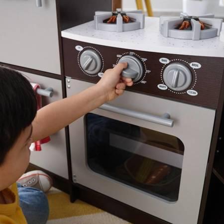 Ultimate Narożna Kuchnia KidKraft  Espresso Światło i dźwięk