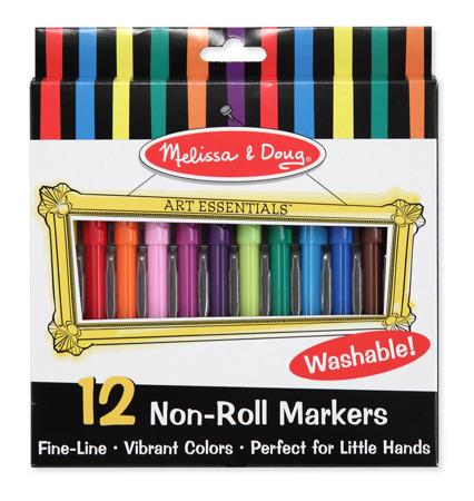 Zestaw 12 Kolorowe Flamastry Melissa and Doug 14221