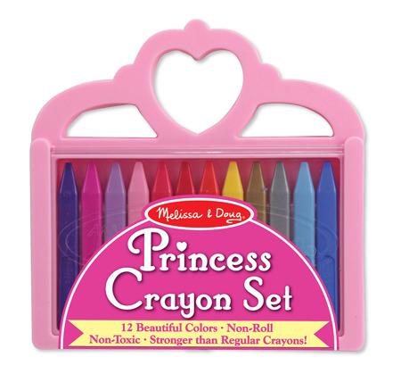 Zestaw 12 Kolorowe Kredki  Księżniczka Melissa and Doug 14155